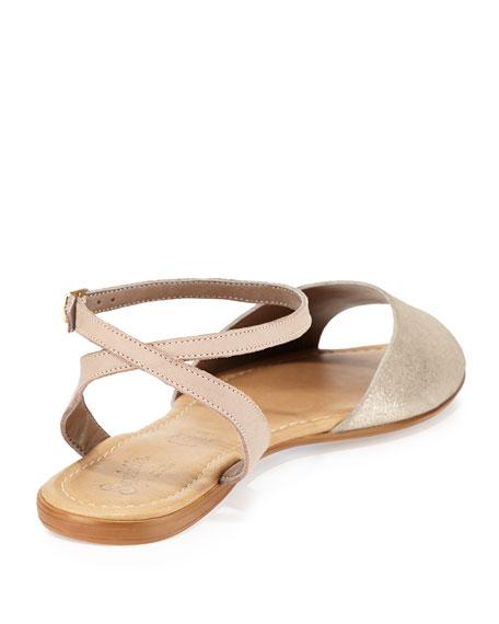 Brand New Ankle-Wrap Sandal, Silver