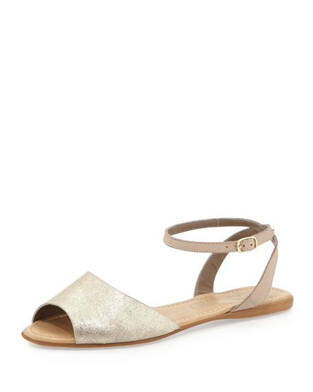 Brand New Ankle-Wrap Sandal, Silver
