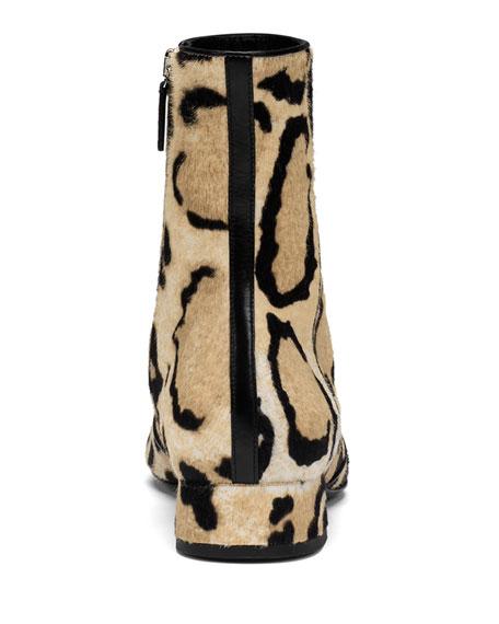 2f53237a76a3 Gucci Calf Hair Horsebit Ankle Boot, Cloud Leopard