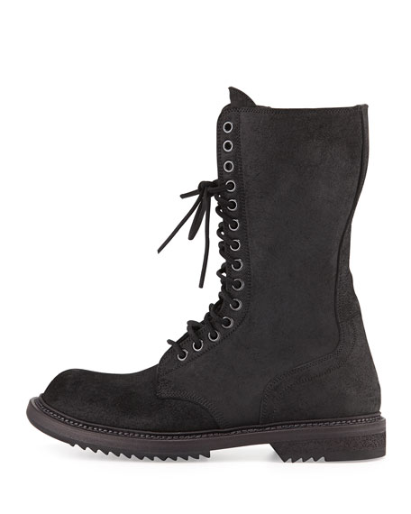 Waxed Laced/Zip Combat Boot