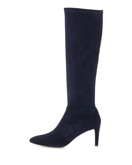 Coolboot Stretch Suede Boot, Nice Blue