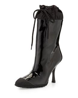 Miu Miu Patent Cap-Toe Rain Boot
