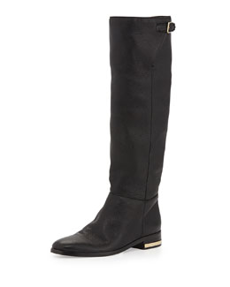 Burberry Soft Slouchy Knee Boot, Black