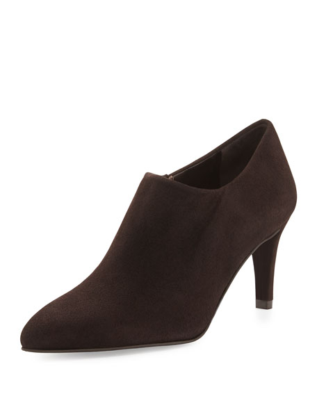 Standin Suede Bootie, Cola (Made to Order)