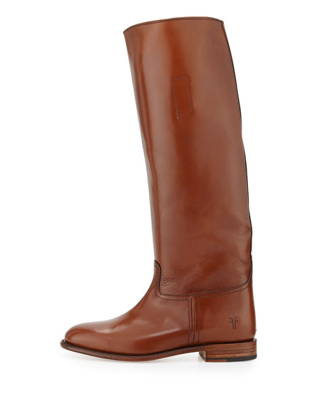 Abigail Leather Riding Boot, Whiskey
