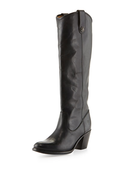 FryeJackie Button-Tab Boot, Black
