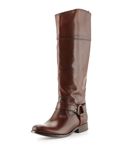 Frye Melissa Harness Riding Boot, Redwood
