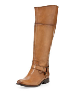 Frye Melissa Harness Riding Boot, Camel