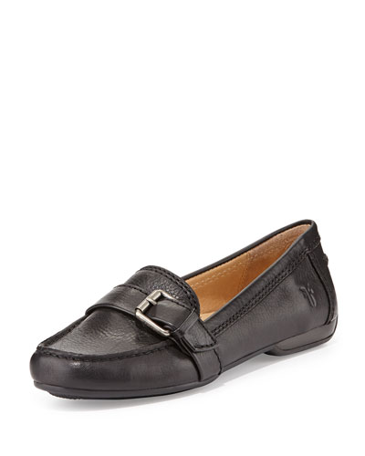 Frye Janet Leather Buckle Loafer