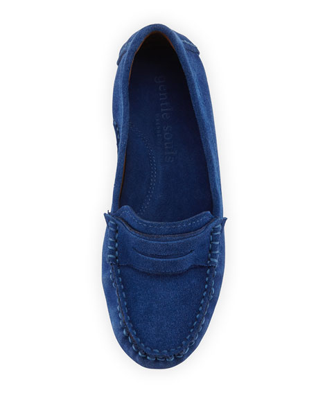 Portobello Suede Penny Loafer, Nautical