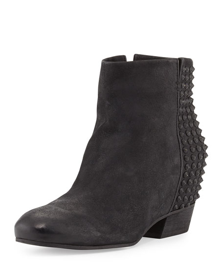 Block Fierce Spike-Trim Ankle Boot