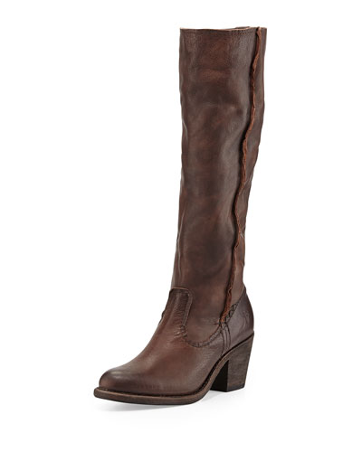 Frye Leslie Artisan Leather Tall Boot, Dark Brown