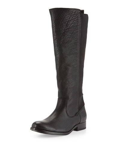 Frye Molly Stretch-Back Tall Boot, Black