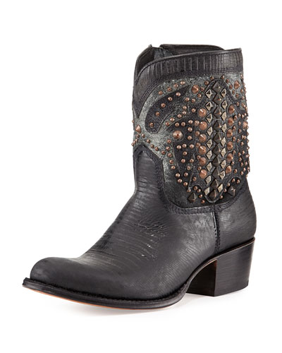 Frye Deborah Deco Short Boot, Black