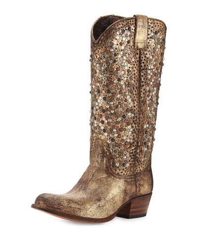 Frye Deborah Studded Tall Western Boot