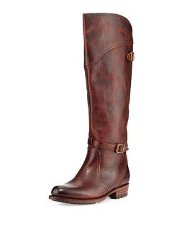 Frye Dorado Buckled Leather Riding Boot