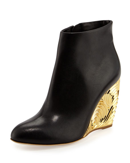 527f45c9a8c Rupert Sanderson Decorative-Wedge Ankle Boot