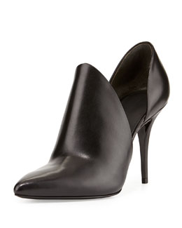 Alexander Wang Leva Leather Cutout Bootie, Black