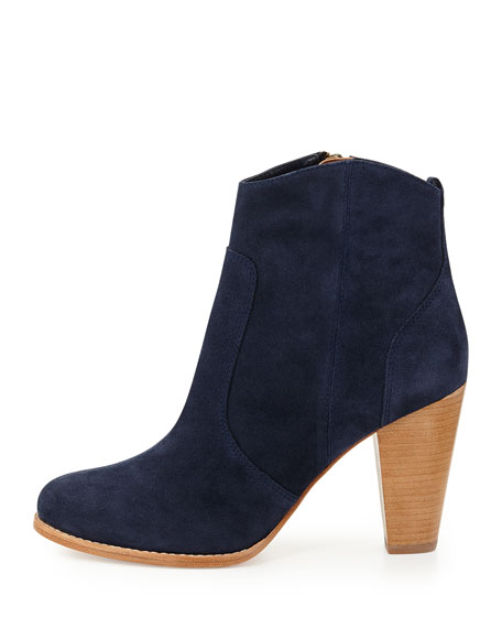 Dalton Suede Ankle Boot, Denim