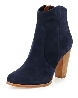 Joie Dalton Suede Ankle Boot, Denim