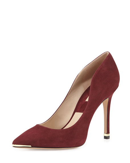 Avra Pointed-Toe Suede Pump