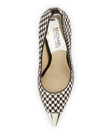 Zady Calf-Hair Houndstooth Pump