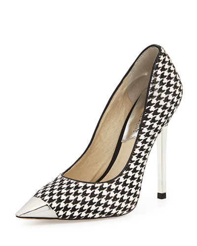 MICHAEL Michael Kors  Zady Calf-Hair Houndstooth Pump
