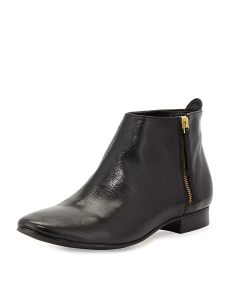 Belmont Leather Zip Bootie