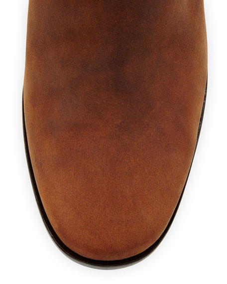 Chesney Leather Ankle Bootie, Cognac
