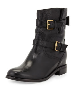 kate spade new york sabina double-buckle moto boot