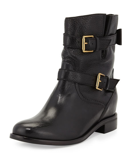 sabina double-buckle moto boot