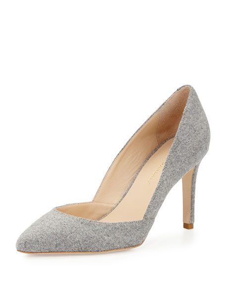 Pari Wool Pointed-Toe Pump