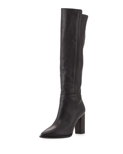 Loeffler Randall Minetta Pointy-Toe Knee Boot, Black