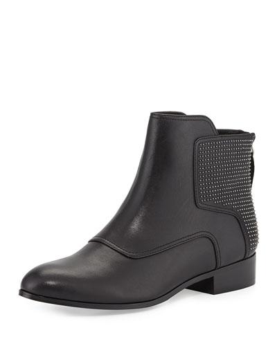 Pour la Victoire Keon Studded Leather Ankle Boot, Black