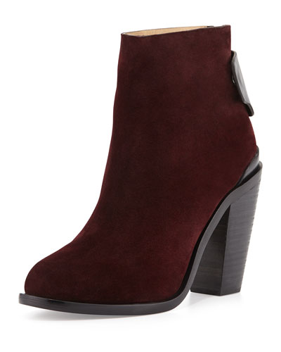 Rag & Bone Kerr Nubuck Ankle Boot, Bordeaux