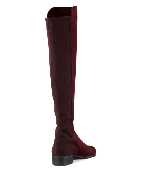 Reserve Suede Over-the-Knee Boot, Bordeaux