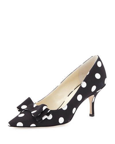Caron Polka-Dot Bow Pump, Mega Dot