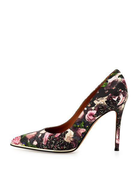 Givenchy Floral Metal-Midsole Pointy Pump