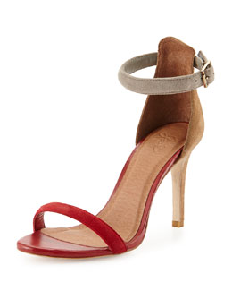 Joie Roxie Colorblock d'Orsay Sandal, Chili Multi