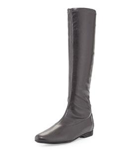 Donald J Pliner Doris Stretch Leather Flat Boot