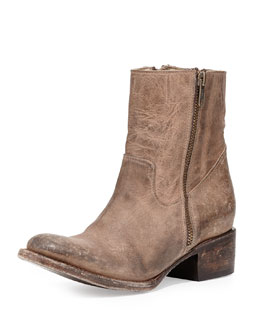Freebird Austin Side-Zip Bootie, Stone