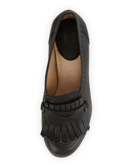 Naiya Leather Loafer Pump, Black