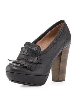 Frye Naiya Leather Loafer Pump, Black