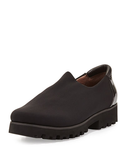 Rave Stretch Crepe Slip-On, Black