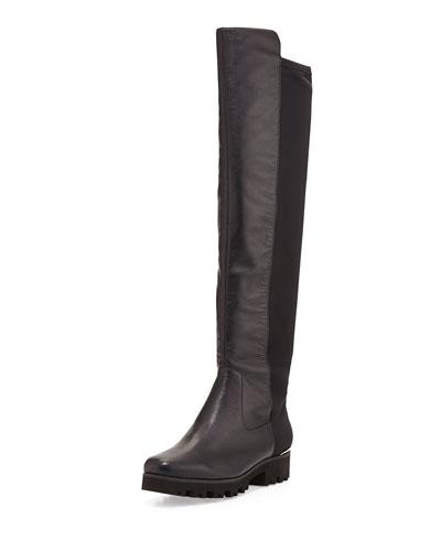 Donald J Pliner Roz Leather Over-the-Knee Boot, Black