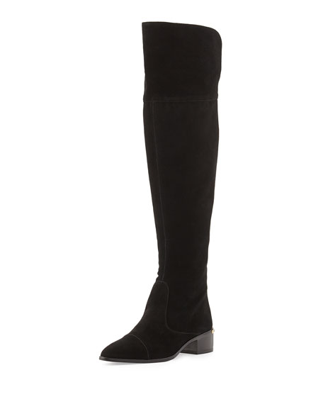 Divo Suede Over-the-Knee Boot, Black