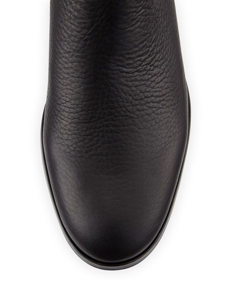 Ylva Leather Knee Boot, Black