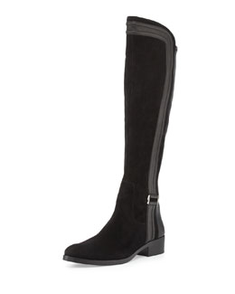 Donald J Pliner Nima Suede and Leather Knee Boot
