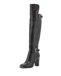 Donald J Pliner Quinto Leather Knee Boot, Black