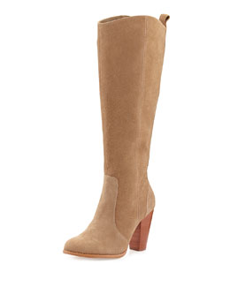 Joie Dagny Suede Knee Boot, Cement